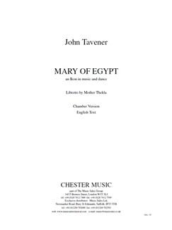 John Tavener: Mary Of Egypt (Study Score) Books | Voice, SATB, Orchestra