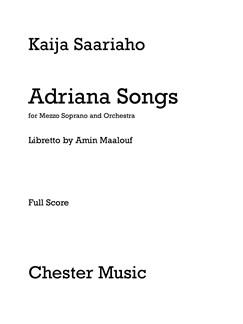 Kaija Saariaho: Adriana Songs (Full Score) Books | Orchestra