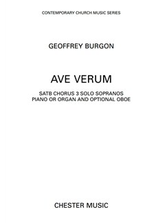 Geoffrey Burgon: Ave Verum (SATB) Books | Soprano, SATB, Piano Accompaniment