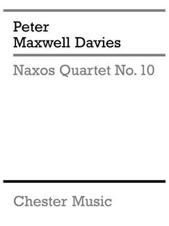 Peter Maxwell Davies: Naxos Quartet No.10 (Parts) Books | String Quartet