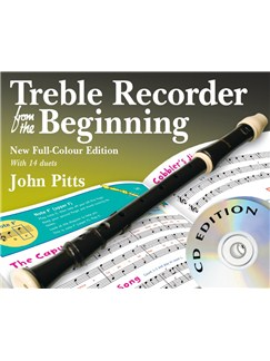 John Pitts: Treble Recorder From The Beginning - Book/CDs (Revised Full-Colour Edition) Books and CDs | Alto (Treble) Recorder