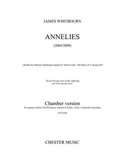James Whitbourn: Annelies (Chamber Version) - Parts Books | Chamber Group, Soprano, SATB