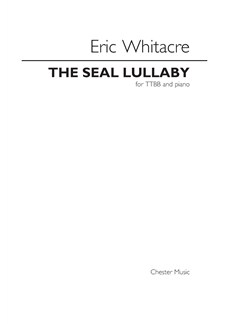 Eric Whitacre: The Seal Lullaby - TTBB Books | TTBB, Piano Accompaniment
