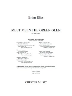 Brian Elias: Meet Me In The Green Glen (Voice Song) Books | Voice