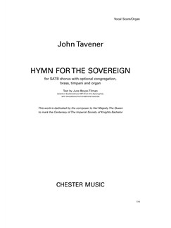 John Tavener: Hymn For The Sovereign (Vocal Score) Books | SATB, Organ Accompaniment