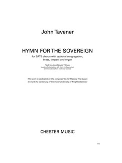 John Tavener: Hymn For The Sovereign (Full Score) Books | SATB, Brass Ensemble, Timpani, Organ Accompaniment