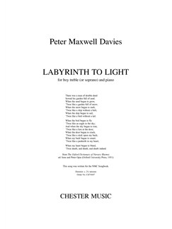 Peter Maxwell Davies: Labyrinth To Light Books | Boy Treble or Soprano and Piano Accompaniment