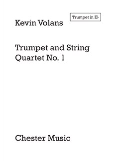 Kevin Volans: Trumpet and String Quartet No.1 (Parts) Books | Trumpet, String Quartet