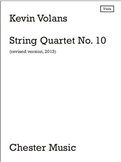 Kevin Volans: String Quartet No.10- Parts Books | String Orchestra, Violin, Viola, Cello