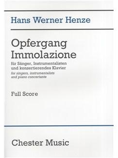 Hans Werner Henze: Opfergang Immolazione (Full Score) Books | Tenor, Bass Voice, Baritone Voice, TTBB, Orchestra