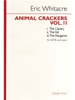Eric Whitacre: Animal Crackers - Volume 2 Books | SATB, Piano Accompaniment