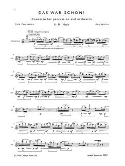 Rolf Wallin: Das War Schön! (Percussion Solo) Books   Percussion