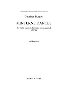 Geoffrey Burgon: Minterne Dances (Score/Parts) Books | Flute, Clarinet, Harp, String Quartet