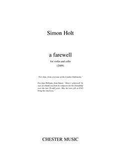 Simon Holt: A Farewell Books | Violin, Cello
