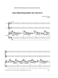 Michael Nyman: The Photography Of Chance (Piano Trio) - Full Version Books | Piano Chamber, Violin, Cello, Chamber Group