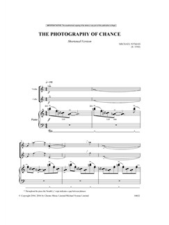 Michael Nyman: The Photography Of Chance (Piano Trio) - Short Version Books | Piano Chamber, Violin, Cello, Chamber Group