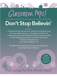 Classroom Pops! Don't Stop Believin' Books and CDs | Piano, Vocal & Guitar