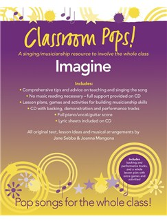 Classroom Pops! Imagine CD et Livre | Piano, Chant et Guitare