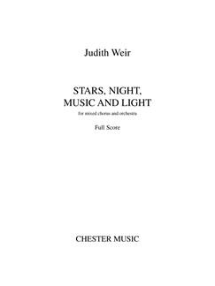 Judith Weir: Stars, Night, Music And Light (A4 Study Score) Books | SATB, Orchestra