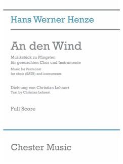 Hans Werner Henze: An Den Wind (Full Score) Bog | SATB, Orkester, Kor