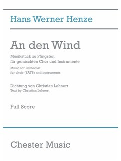 Hans Werner Henze: An Den Wind (Full Score) Books | SATB, Orchestra