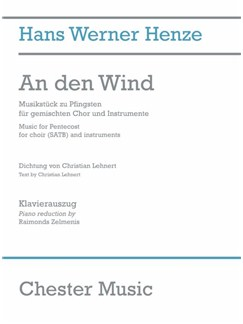Hans Werner Henze: An Den Wind (Vocal Score) Books | SATB, Piano Accompaniment
