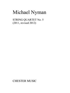 Michael Nyman: String Quartet No.5 (Score/Parts) Books | String Quartet