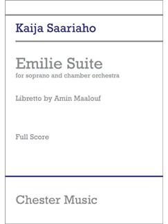 Kaija Saariaho: Emilie Suite - Full Score Books | Soprano, Chamber Group, Orchestra