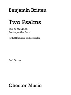 Benjamin Britten: Two Psalms (Full Score) Books | SATB, Orchestra