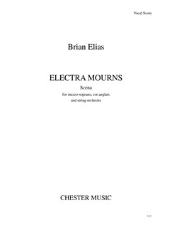 Brian Elias: Electra Mourns (Vocal Score) Books | Mezzo-Soprano, Cor Anglais, Piano Accompaniment