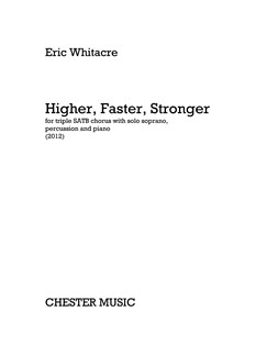 Eric Whitacre: Higher, Faster, Stronger (Percussion/Piano Parts) Books | Percussion, Piano