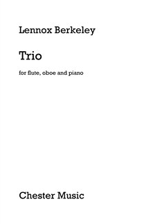 Lennox Berkeley: Trio For Flute, Oboe And Piano Books | Flute, Oboe, Piano Chamber