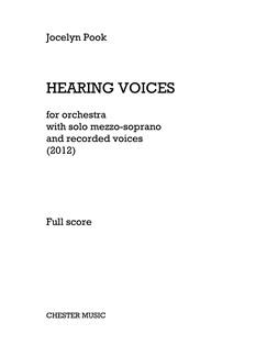 Jocelyn Pook: Hearing Voices (Full Score) Books | Mezzo-Soprano, Orchestra