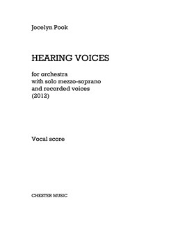Jocelyn Pook: Hearing Voices (Vocal Score) Books | Mezzo-Soprano, Piano Accompaniment