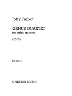 Joby Talbot: Genus Quartet (For String Quartet) Books | String Quartet