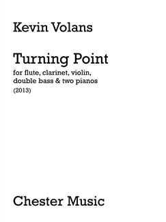 Kevin Volans: Turning Point (Score) Books | Flute, Clarinet, Violin, Double Bass, Piano Duet