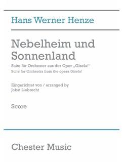 Hans Werner Henze: Nebelheim Und Sonnenland (Full Score) Books | Orchestra