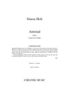 Simon Holt: Amistad Books | Flute (Duet)