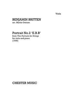 Benjamin Britten: Portrait No.2 'E.B.B' (Viola/Piano) Books | Viola, Piano Accompaniment