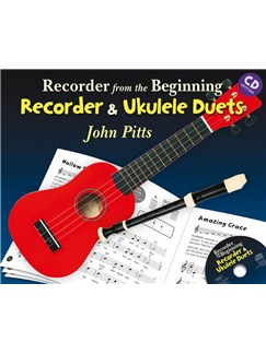 Recorder From The Beginning: Recorder And Ukulele Duets (Book/CD) Books and CDs | Recorder, Ukulele