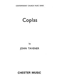 John Tavener: Coplas (Vocal Score/CD) Books and CDs | SATB, Electronics