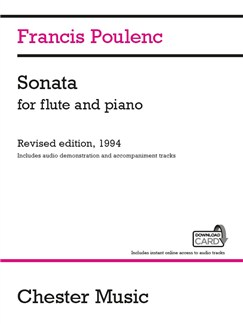 Francis Poulenc: Sonata For Flute And Piano (Audio Edition) Audio Digitale et Livre | Flûte Traversière, Accompagnement Piano