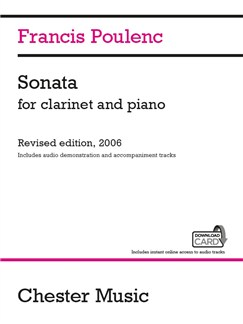 Francis Poulenc: Sonata For Clarinet And Piano Books | Clarinet, Piano Accompaniment