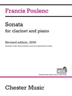 Francis Poulenc: Sonata For Clarinet And Piano (Audio Edition) Books | Clarinet, Piano Accompaniment