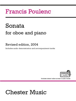 Francis Poulenc: Sonata For Oboe And Piano (Audio Edition) Books and Digital Audio | Oboe, Piano Accompaniment