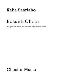 Kaija Saariaho: Bosun's Cheer - Modern Instrument Version Books | Voice, Flute, Cello, Double Bass