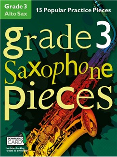 Grade 3 Alto Saxophone Pieces (Book/Audio Download) Books and Digital Audio | Alto Saxophone
