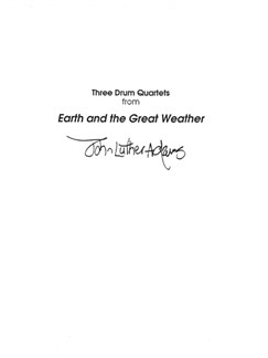 John Luther Adams: Three Drum Quartets From Earth And The Great Weather Books | Percussion (Quartet)