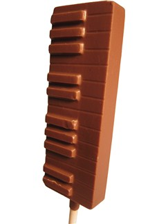 Musicroom: Milk Chocolate Piano Lollipop   