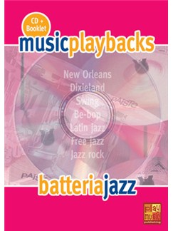 Music Playbacks CD: Battería Jazz (Italian) Books and CDs | Drums